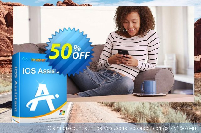 Coolmuster iOS Assistant - 1 Year License(21-25PCs) discount 50% OFF, 2019 Summer offering sales