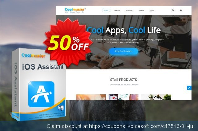 Coolmuster iOS Assistant  for Mac - Lifetime License(2-5PCs) discount 50% OFF, 2019 Father's Day offering sales