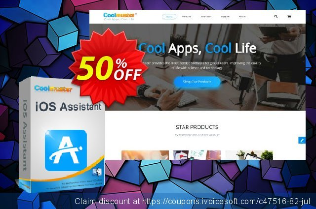 Coolmuster iOS Assistant  for Mac - Lifetime License(6-10PCs) discount 50% OFF, 2020 Back to School promotion discounts