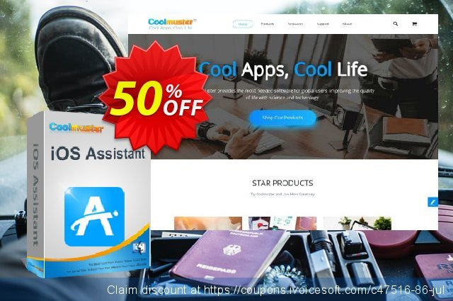 Coolmuster iOS Assistant   for Mac - Lifetime License(26-30PCs) discount 50% OFF, 2019 Earth Hour offering sales