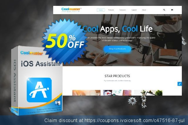 Coolmuster iOS Assistant for Mac - 1 Year License(1 PC) 大的 优惠码 软件截图
