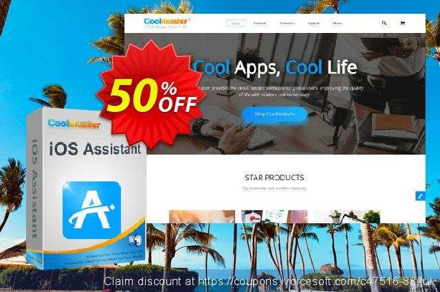 Coolmuster iOS Assistant for Mac - 1 Year License(2-5PCs) discount 50% OFF, 2019 Summer deals