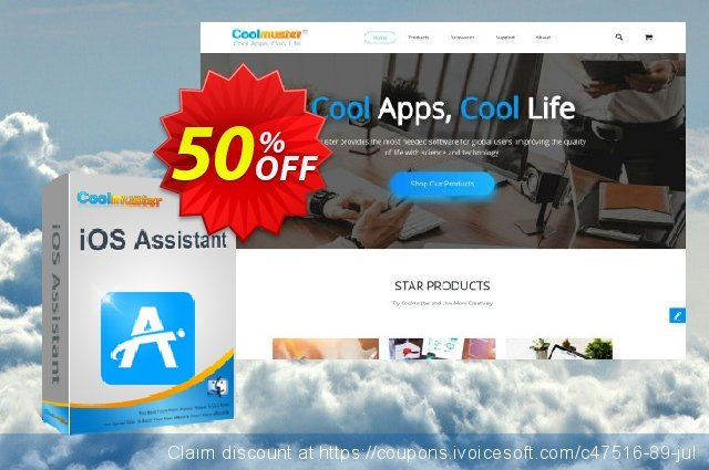 Coolmuster iOS Assistant for Mac - 1 Year License(6-10PCs) 棒极了 折扣 软件截图