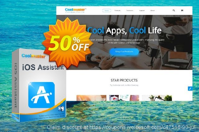 Coolmuster iOS Assistant for Mac - 1 Year License(11-15PCs) discount 50% OFF, 2019 Happy New Year offering sales