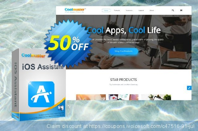 Coolmuster iOS Assistant for Mac - 1 Year License(16-20PCs) discount 50% OFF, 2019 Daylight Saving deals