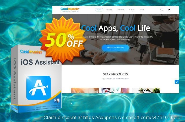 Coolmuster iOS Assistant for Mac - 1 Year License(26-30PCs) discount 50% OFF, 2019 New Year sales