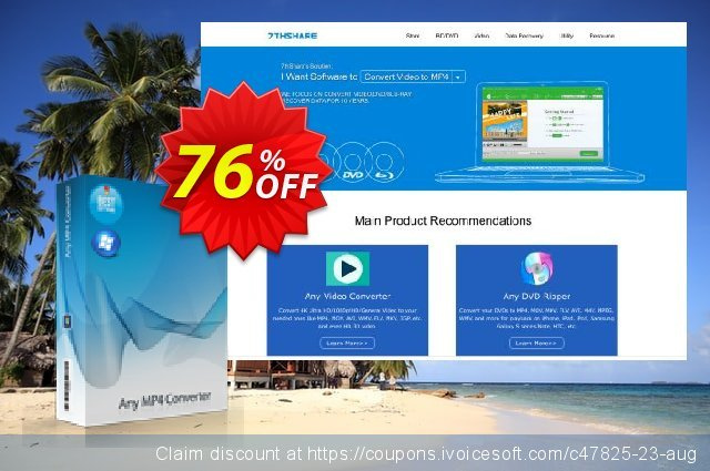 7thShare Any MP4 Converter discount 76% OFF, 2021 January offering sales