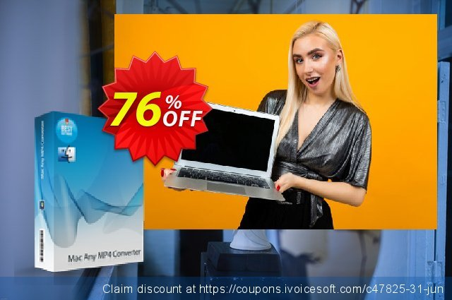 7thShare Mac Any MP4 Converter discount 76% OFF, 2020 Happy New Year offer