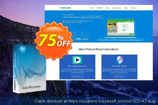 7thShare Data Recovery discount 75% OFF, 2019 Summer promotions
