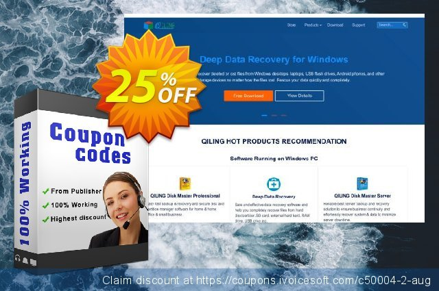 Get 25% OFF QILING Disk Master Professional discount