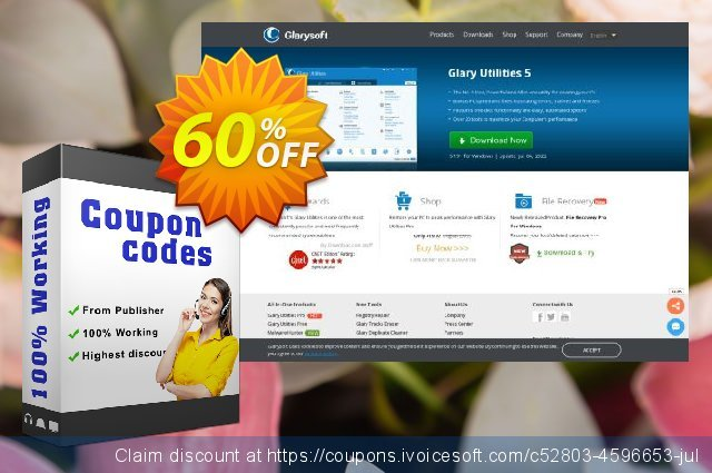Glary Utilities PRO Site License discount 60% OFF, 2020 Xmas Day offering discount