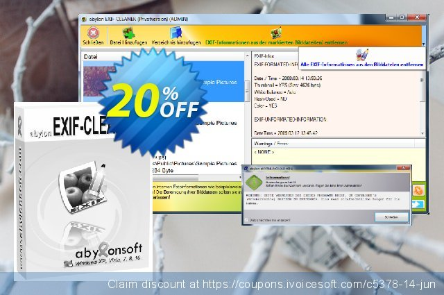 abylon EXIF-CLEANER discount 20% OFF, 2020 Christmas Day offering sales