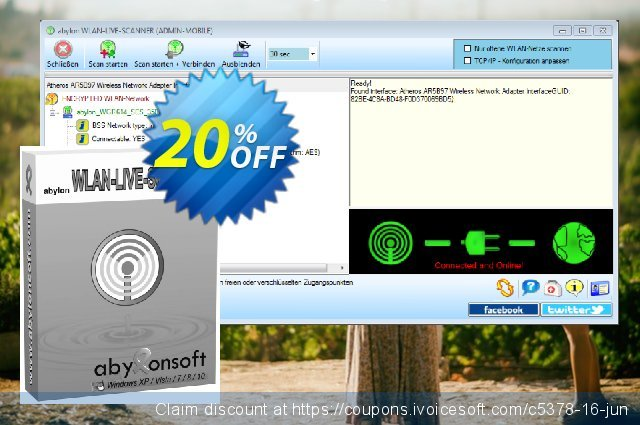 abylon WLAN-LIVE-SCANNER discount 20% OFF, 2020 End year offering sales