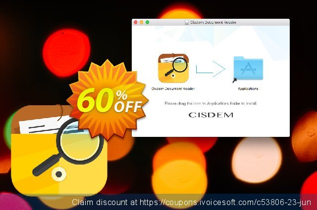 Cisdem Document Reader discount banner 50% OFF, September