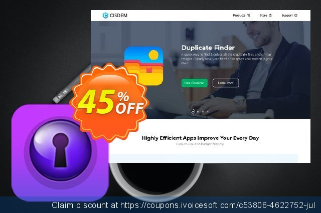 Cisdem PDFPasswordRemover Lite for Mac - License for 5 Macs discount 30% OFF, 2019 Thanksgiving offering sales