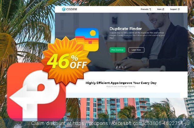 Cisdem PDF Converter for 2 Macs discount 46% OFF, 2020 July 4th offering sales