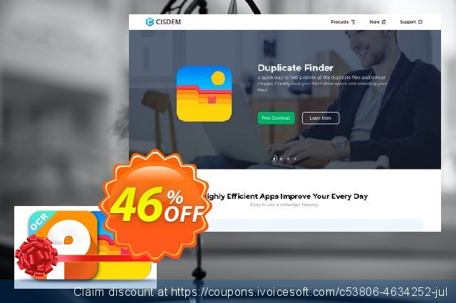 Cisdem PDF Converter OCR and Duplicate Finder Bundle discount 46% OFF, 2020 Summer offering sales