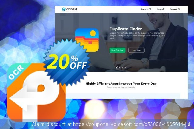 Cisdem PDF Converter OCR Business for 2-5 Macs discount 10% OFF, 2020 January offering sales