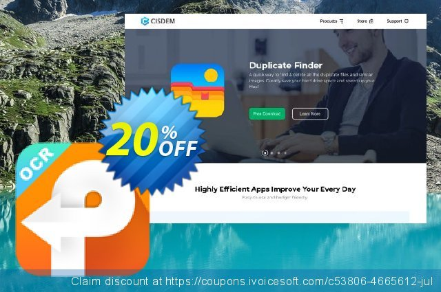 Cisdem PDF Converter OCR Business for 6-10 Macs discount 20% OFF, 2020 4th of July offering discount