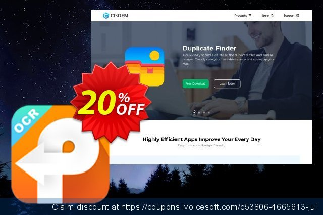 Cisdem PDF Converter OCR Business for 10-20 Macs discount 10% OFF, 2020 New Year's Weekend promotions
