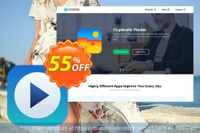 Cisdem Video Player for 5 Macs discount 21% OFF, 2020 Halloween promotions