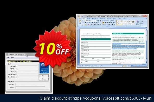 VeryUtils PDF to Word Converter discount 10% OFF, 2021 New Year discount