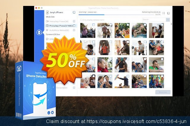 Get 89% OFF TogetherShare iPhone Data Recovery for Windows promotions