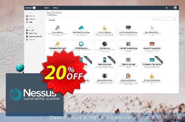 Tenable Nessus professional (1 Year + Advanced Support) discount 20% OFF, 2020 College Student deals offering sales
