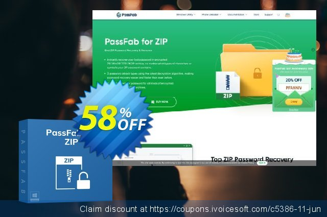 PassFab for ZIP discount 58% OFF, 2021 Happy New Year discounts