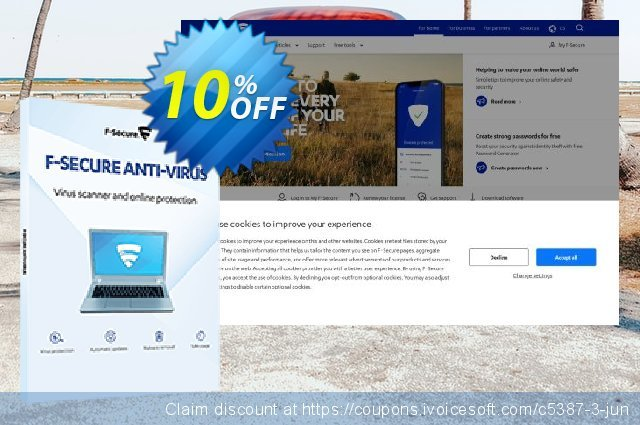 F-Secure ANTI-VIRUS discount 10% OFF, 2020 Thanksgiving discounts