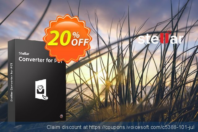 Get 20% OFF Stellar Outlook PST to MBOX Converter coupon (MAC) offering sales