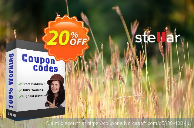 Stellar Audio Video Converter Mac discount 20% OFF, 2021 New Year's Day discounts