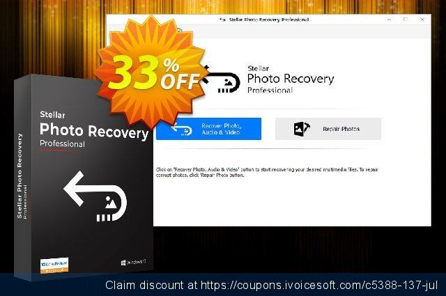 Stellar Photo Recovery Professional 神奇的 产品销售 软件截图