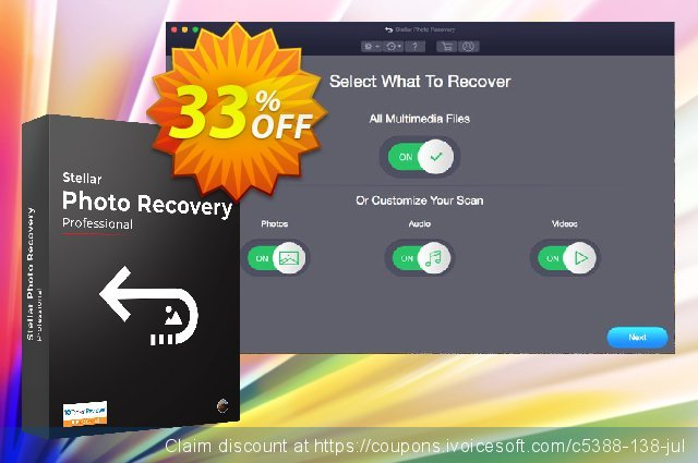 Stellar Photo Recovery Professional (MAC) discount 33% OFF, 2019 Working Day promo sales