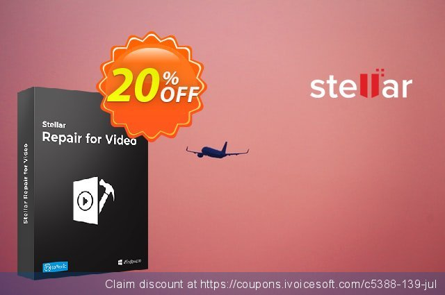 Stellar Phoenix Video Repair discount 20% OFF, 2019 July 4th offering sales