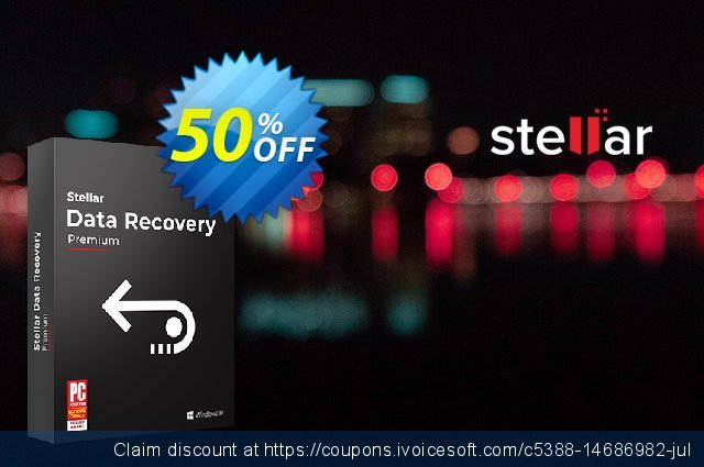 Stellar Data Recovery- Windows Premium [1 Year Subscription] 壮丽的 产品交易 软件截图