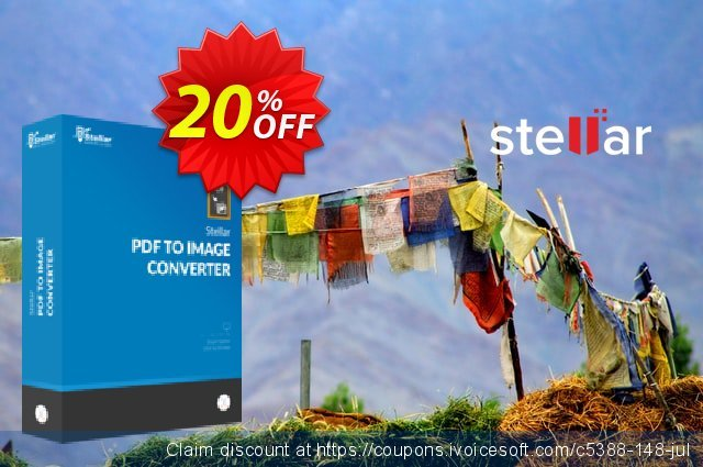 Stellar PDF to Image Converter coupon for MAC 令人印象深刻的 促销 软件截图