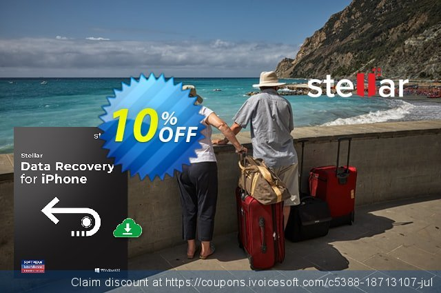 Stellar Data Recovery for iPhone- Tech discount 10% OFF, 2020 4th of July offering sales