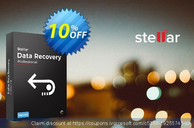 Stellar Data Recovery MAC Pro (Lifetime) discount 10% OFF, 2020 College Student deals offering sales