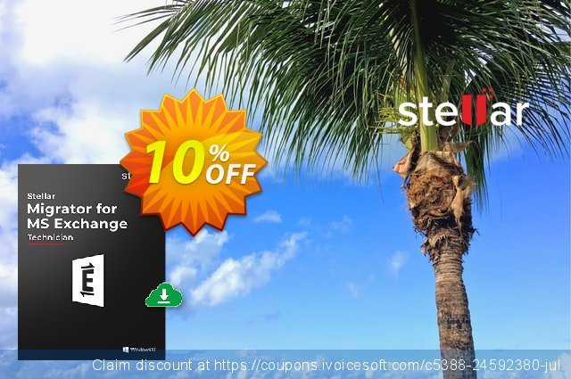 Stellar Migrator for MS Exchange Technician discount 10% OFF, 2021 January offering sales
