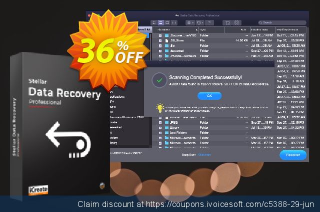 Stellar Data Recovery Professional for Mac discount 36% OFF, 2020 College Student deals offering sales