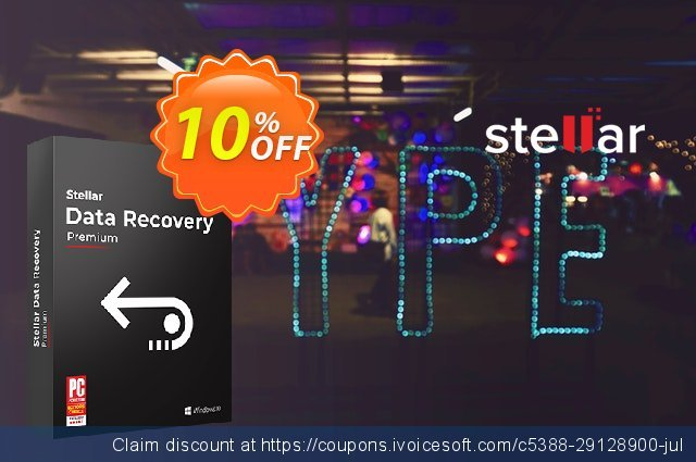 Stellar Data Recovery Premium (30 Days Subscription) discount 10% OFF, 2020 Black Friday offering deals