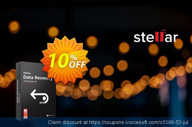 Stellar Data Recovery Professional discount 20% OFF, 2020 4th of July discounts