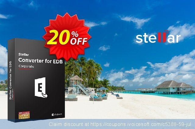 Stellar Converter for EDB Corporate (50 Mailboxes) discount 20% OFF, 2021 New Year's Weekend promotions