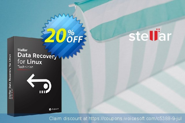 So if you want to buy any Stellar Data Recovery Software utility, then we're here offering a decent Stellar Data Recovery Coupon Code, Discount Offer Sale on the available products. You'll only need to visit offer page by clicking on Grab This Deal link and the coupon code will be .