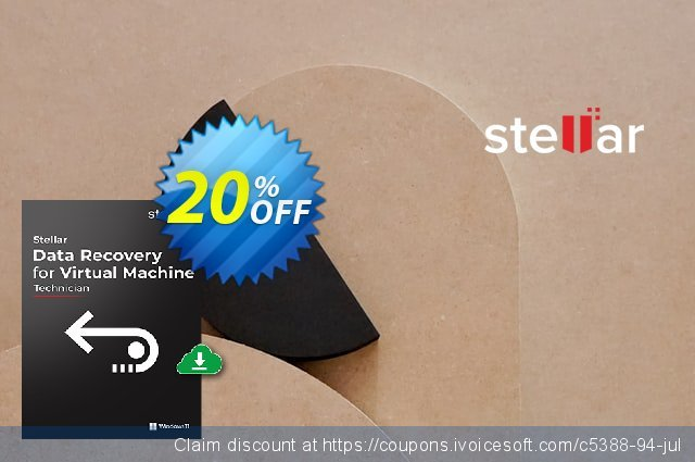 Stellar Data Recovery for Virtual Machine discount 20% OFF, 2021 Rose Day offering sales