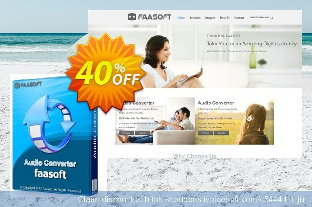 Faasoft Audio Converter discount 30% OFF, 2019 Black Friday offering sales