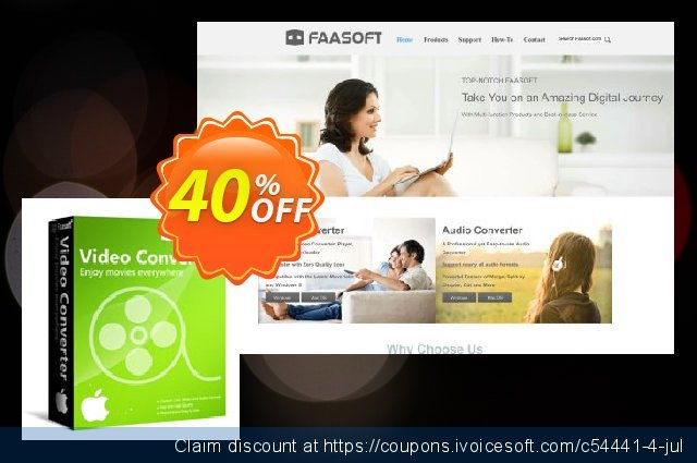 Faasoft Video Converter for Mac discount 30% OFF, 2020 College Student deals offering sales