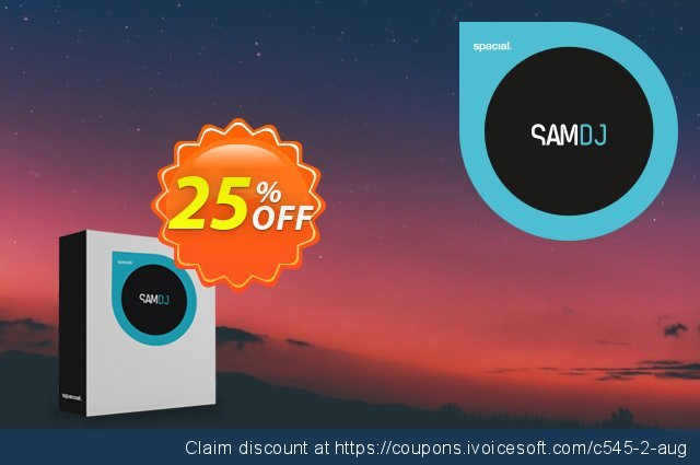 Spacial SAM DJ discount 25% OFF, 2021 Mother Day offer. 25% OFF Spacial SAM DJ, verified