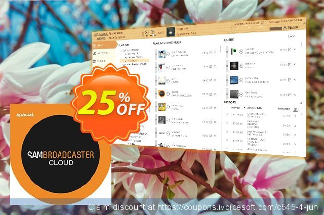 Spacial SAM Broadcaster CLOUD discount 25% OFF, 2021 Mother Day offering discount. 25% OFF Spacial SAM Broadcaster CLOUD, verified